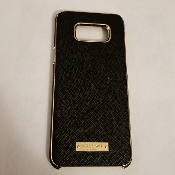 huge selection of 3982e 93db9 Kate Spade Black/Gold Wrap Case Galaxy S8 Plus S8+